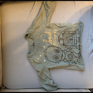 C-3PO and R2-D2 Star Wars baby shirt, Gap